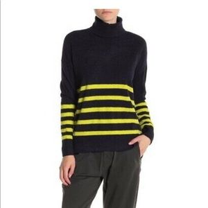 NWOT Vince Camuto Striped Turtleneck Sweater
